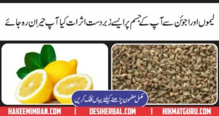 Lemon Pani Aur Ajwain Kay Health Benefits