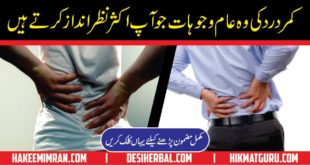 Lower and Upper Back Pain Home Remedies in Urdu By Hakeem Imran Kamboh