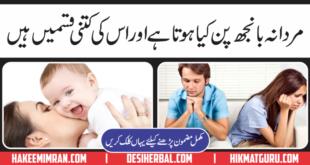 Male infertility(Mardana Banj Pan) Ki iqsam