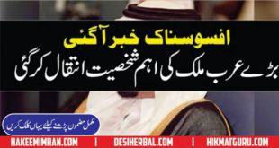 Afoss Nak News Aik Arab peronality Ki Death Ho Gai
