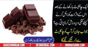 Calories in Milk Chocolate in urdu