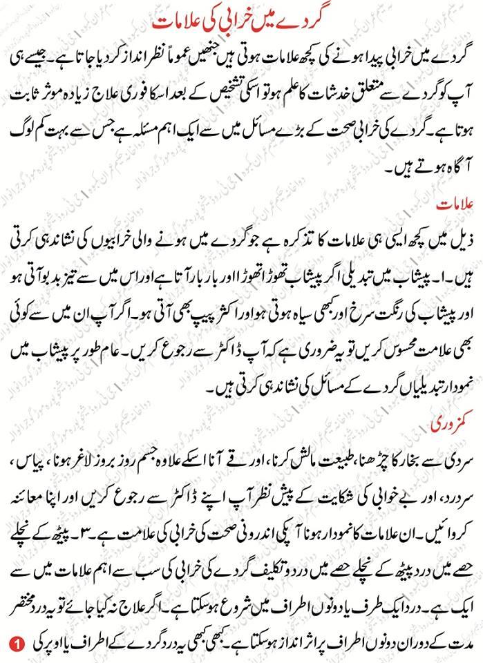 Kidney Diseases Information In Urdu Kidney Ki Bimari Desi Herbal