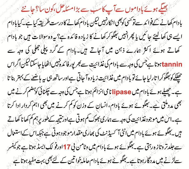 Soak Almond Benefits In Urdu Badam Bhigo Kar Khany Ky Fawaid