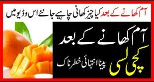 Mango (Aam)Khany Ky Baad Kiya Khana Zarori Hy|What is the Best Diet After Mangoo Bite